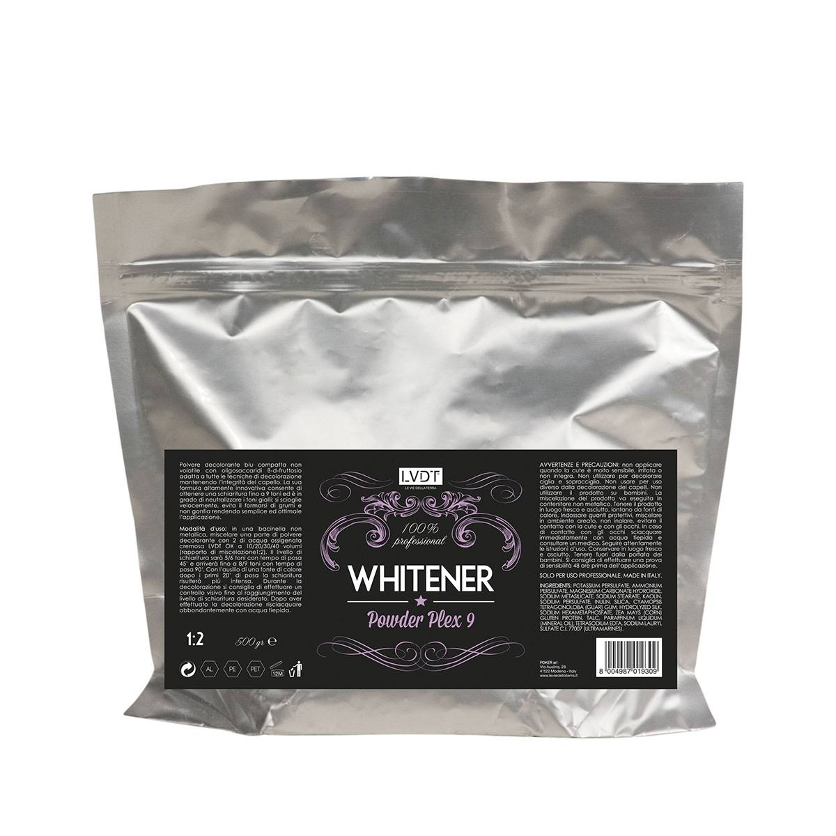Whitener Powder Plex 9 Blu 500gr