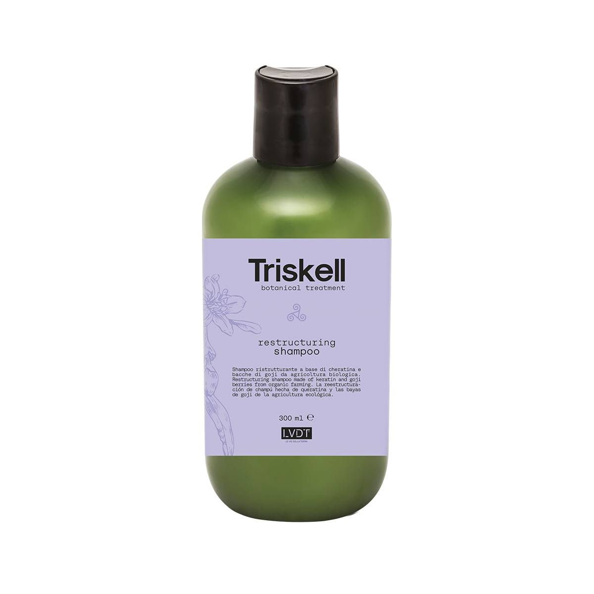 Restructuring Shampoo 300 Ml Triskell Nuova Botanical Treatment