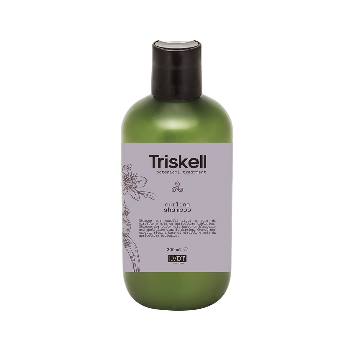 Curling Shampoo 300ml Triskell Botanical Treatment