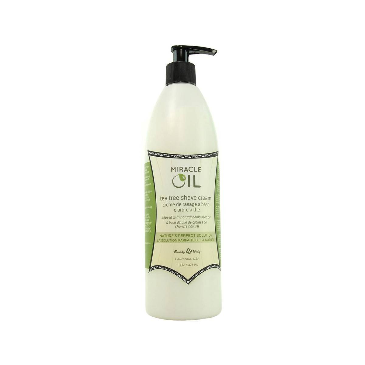Tea Tree  Shave Cream 473ml Miracle Oil Marrakesh