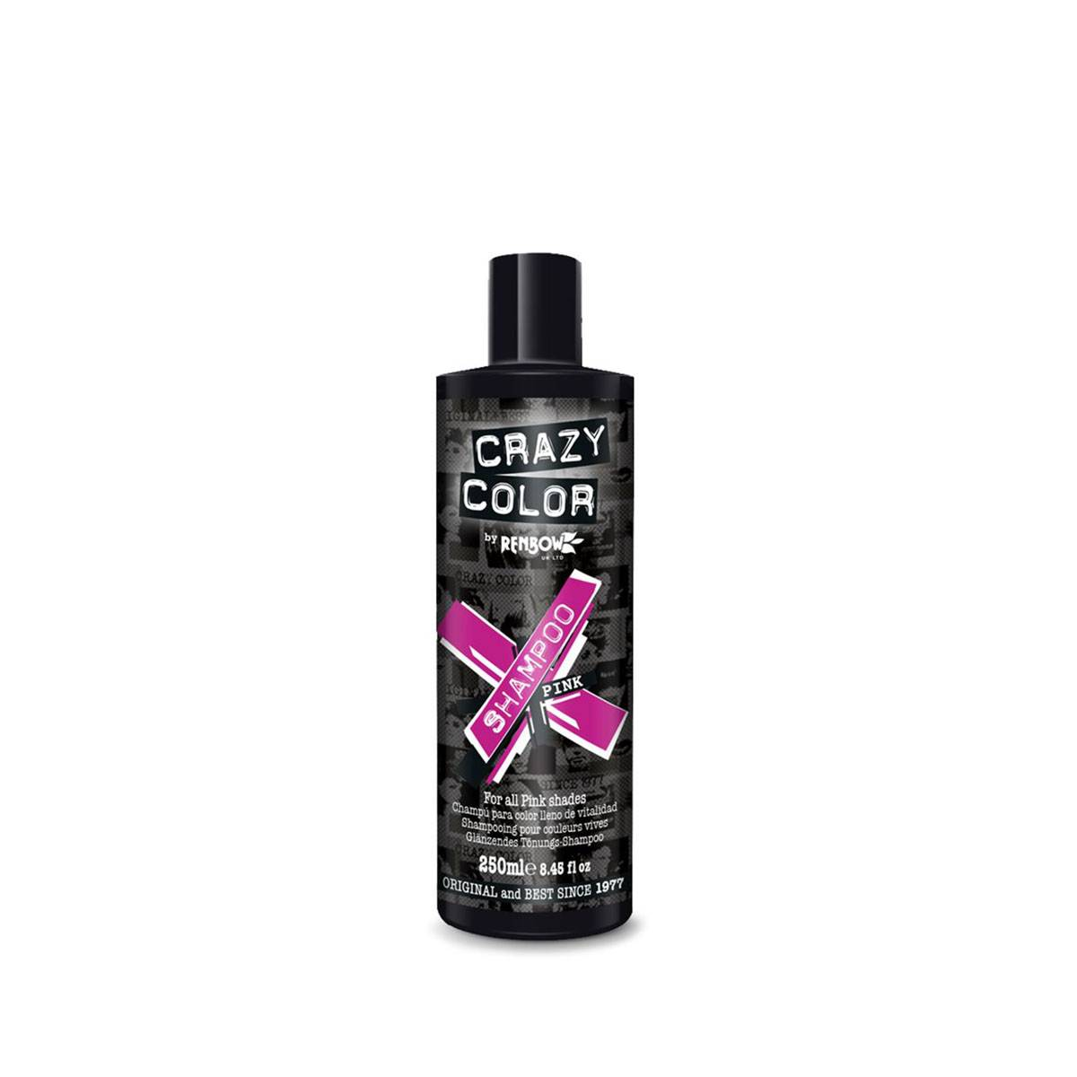 Crazy color shampoo 250ml pink** COLORE