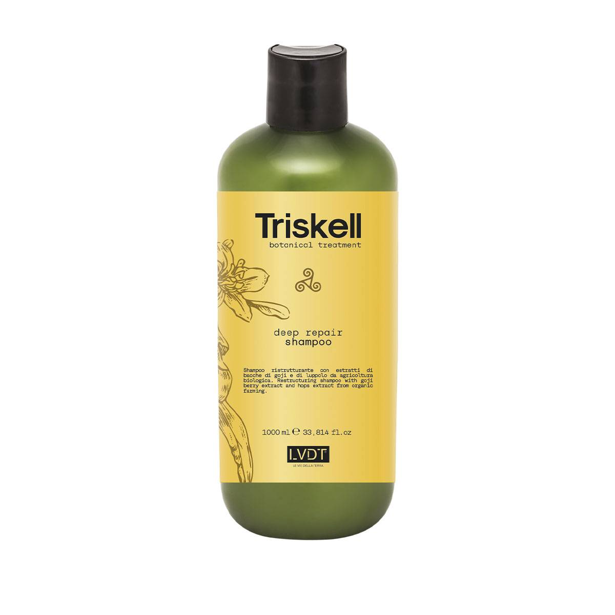 Deep Repair Shampoo 1000ml Triskell Nuova Botanical Treatment
