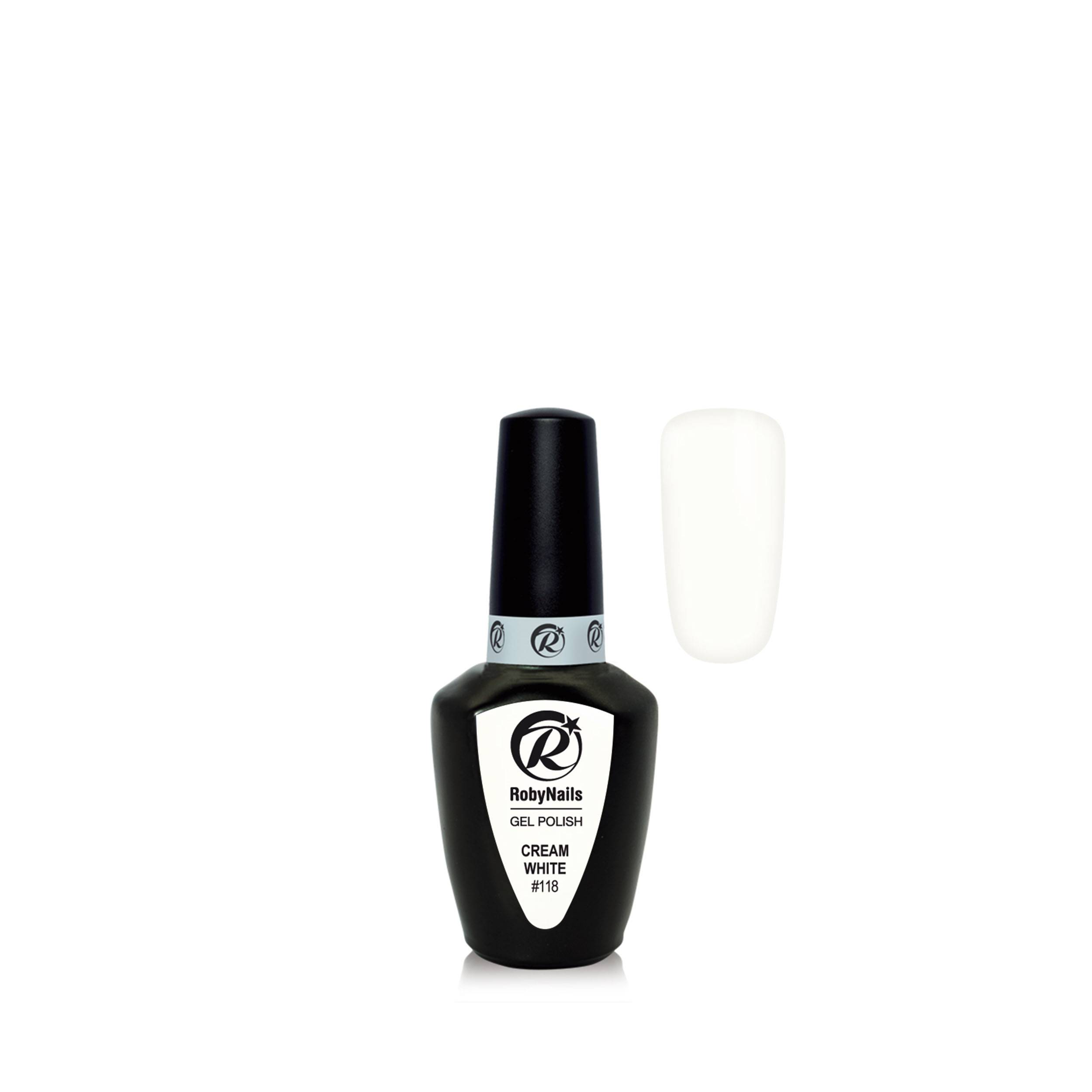 Gel Polish Cream White 8 Ml 21118
