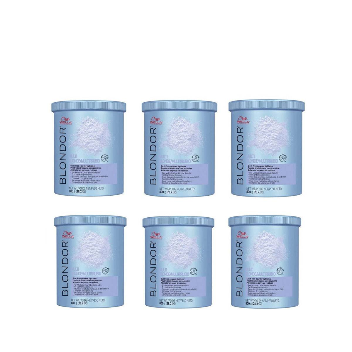 Kit 6 X Blondor Powder 800 Gr